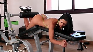 Body and ass drilling with a cock-sucking bimbo Shalina Devine