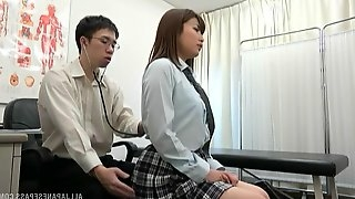 Sweet girl Hayakawa Mizuki gets her pussy massaged with a vibrator