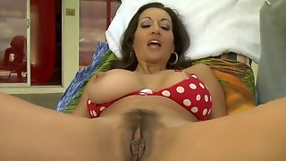 Persia Monir is a babe in a cute bikini ravished by a horny lover