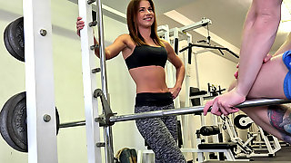 Fitness Coach Pavla Persuaded for Love Making at the Gym