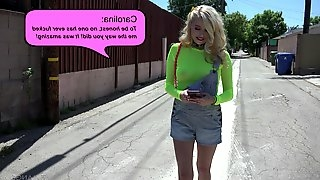 Vagina and face fucking for petite blonde hooker Carolina Sweets