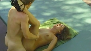 Pretty natural woman from 90's And Her Husband Sex Outdoors