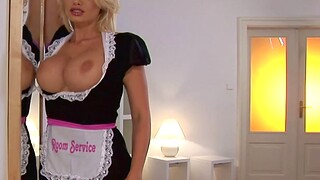 Sexy blonde sheila with perfect tits carrying-on with will not hear of wet pussy